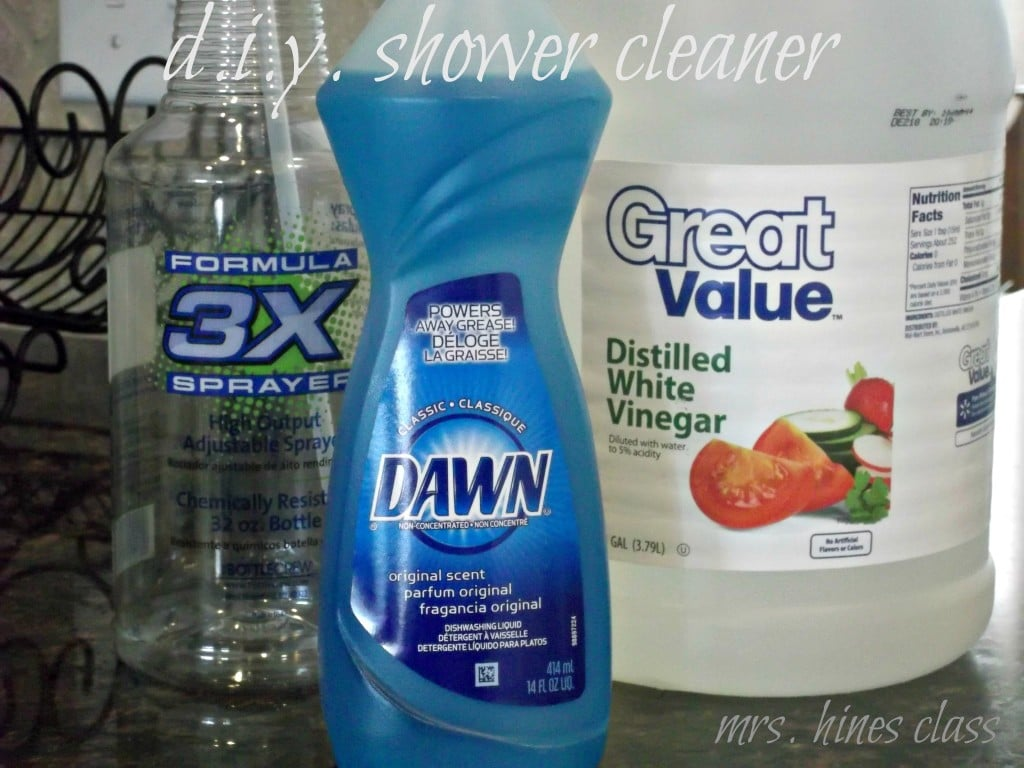 diy shower cleaner