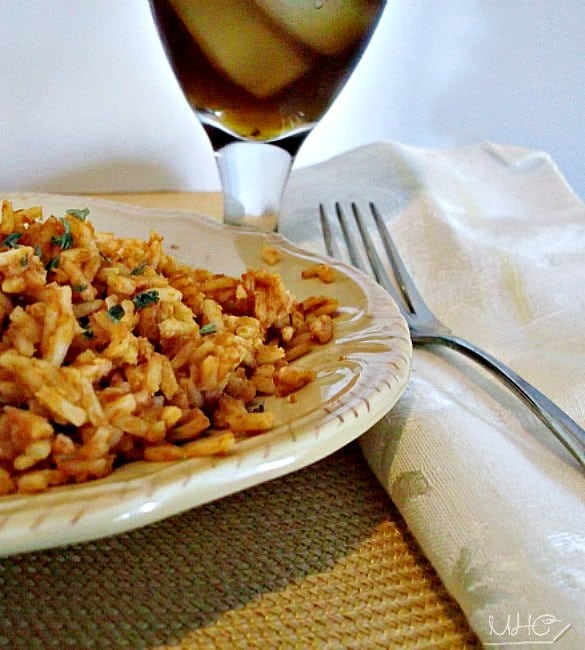 a simple side dish- spanish rice