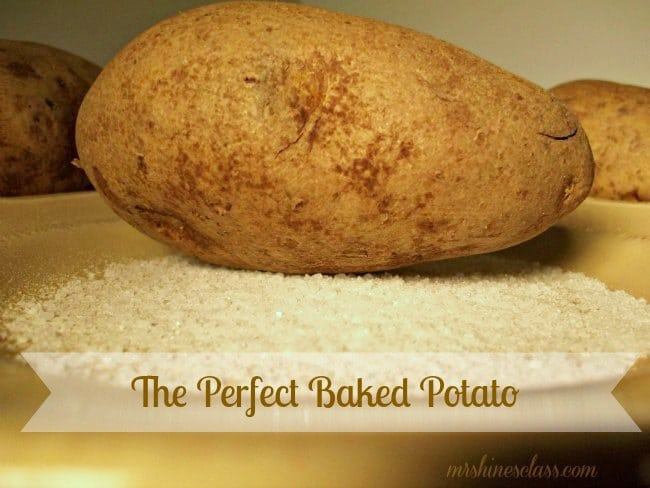 the perfect baked potato: Mrs. Hines Class