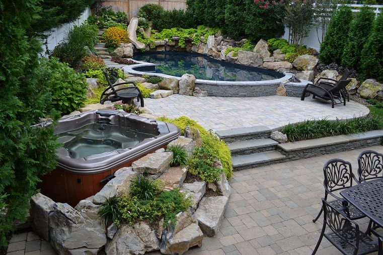 Relaxing backyard spaces for Outside ideas landscaping