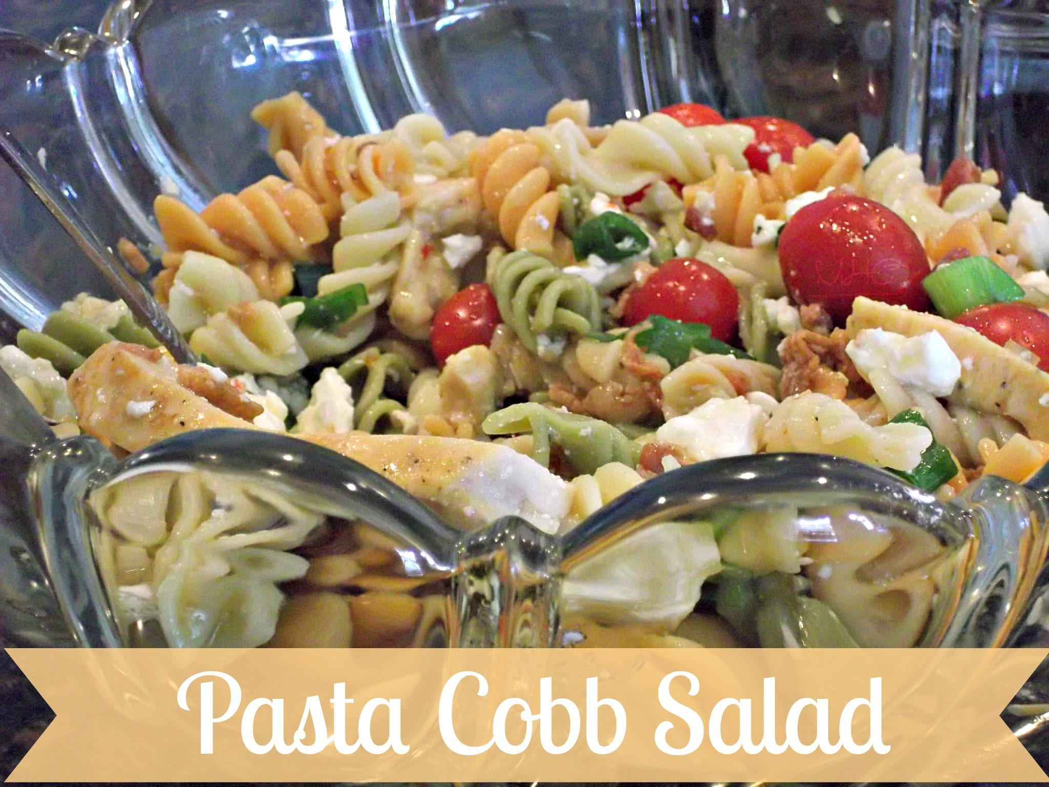 ... for this Crowd Pleasing Pasta Cobb Salad at www.mrshinesclass.com