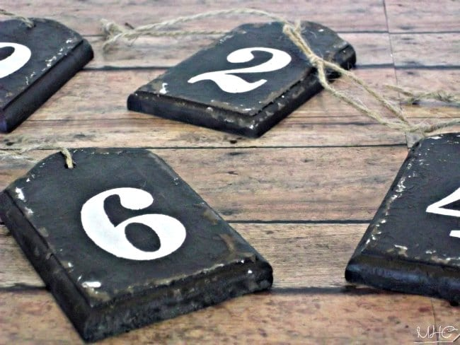 decorating with numbers, number tags, farmhouse decor