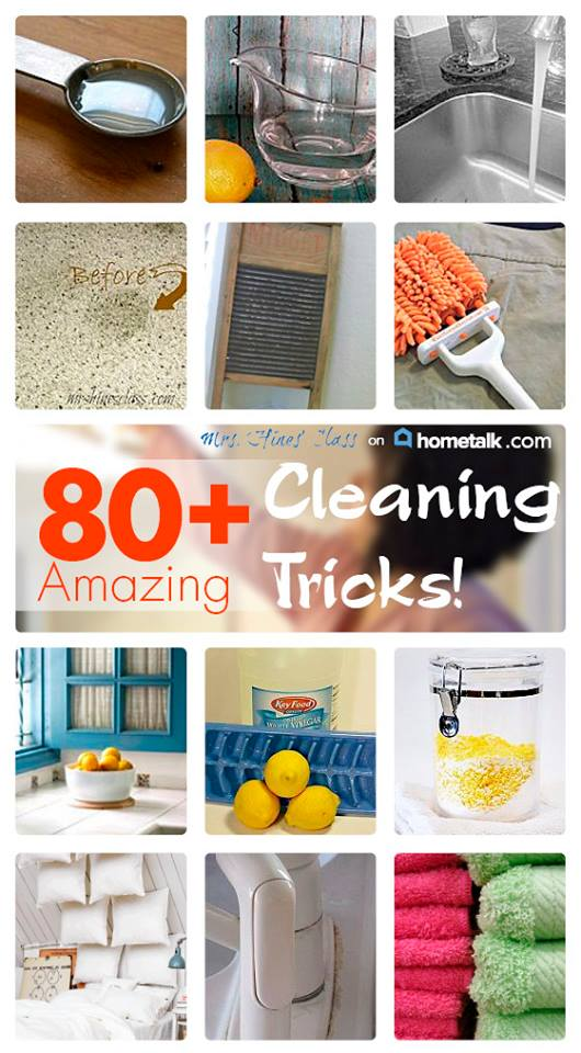 cleaning tips collage