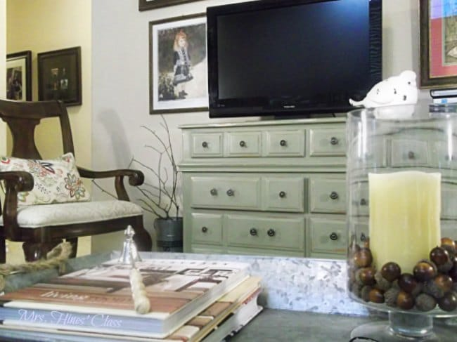 DIY Furniture Makeover As Seen on the Live Well Network!  Get the designer look for less at Mrs. Hines' Class