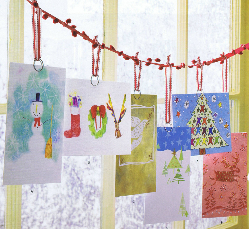 Creative Ways to Display Christmas Cards: Mrs. Hines' Class