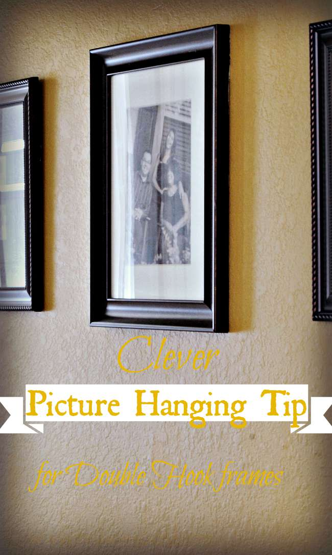 Clever Picture Hanging Tip