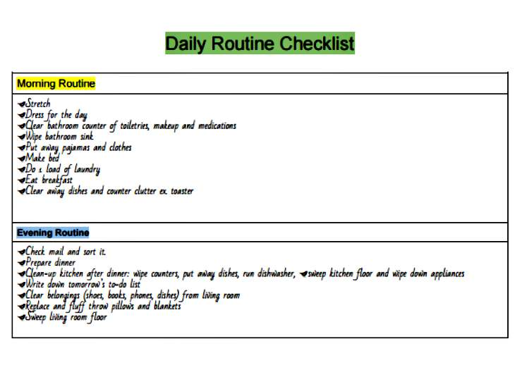 Having a Daily Routine saves time and energy and reduces clutter, freeing you to create a life you love! Get your Free Daily Routine Checklist at www.mrshinesclass.com