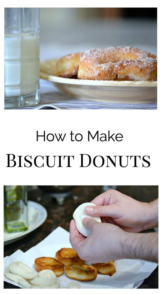 Treat yourself, and your guests, to biscuit donuts! Get the recipe at www.mrshinesclass.com