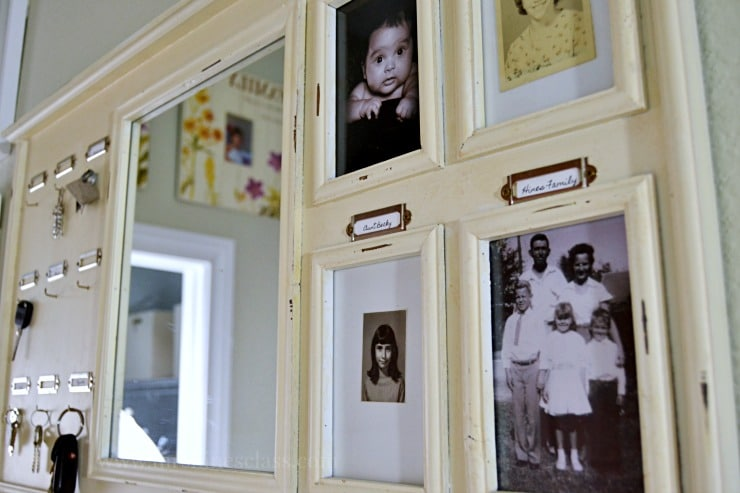 command center family photos gallery wall