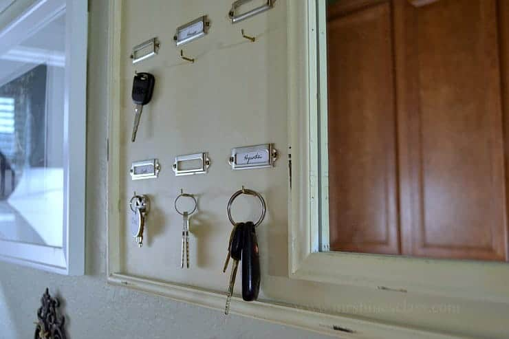 command center spare key hooks