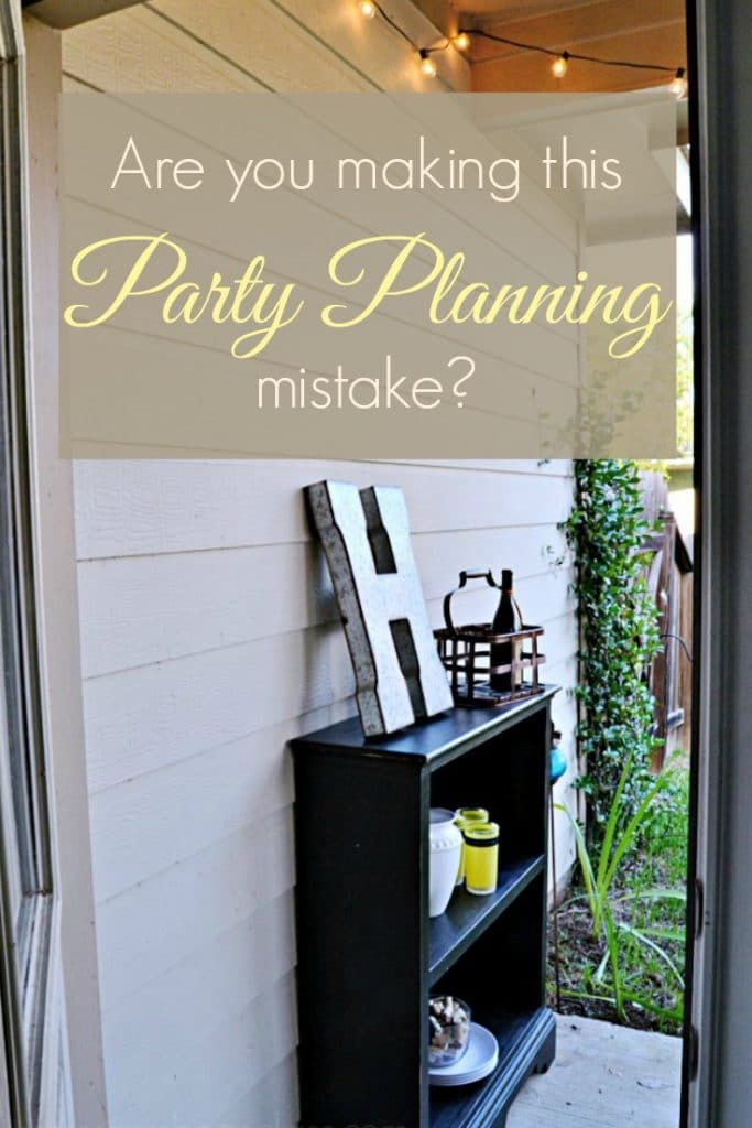 Are you making this party planning mistake? Find out at Mrs. Hines' Class (Hint: most of us are.)