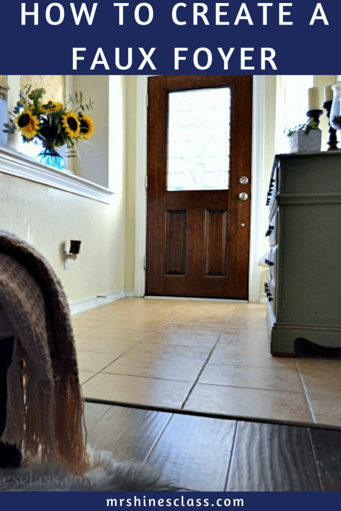 No foyer? No problem! Learn how to create a foyer when there isn't one at Mrs. Hines' Class. What you'll soon discover is some clever space planning is key to turning your not-so-perfect house in a home your love.